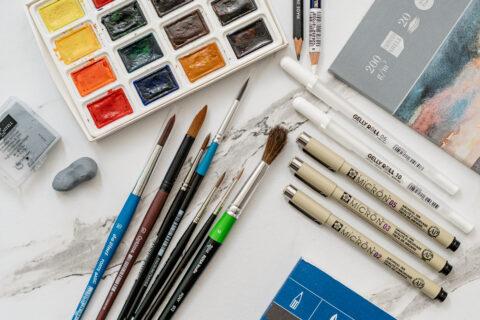 рисуване с акварел за начинаещи